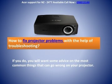 Fix Acer Projector Problems