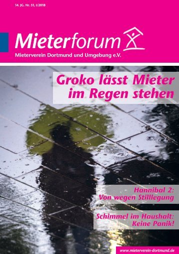 Mieterforum Dortmund - Ausgabe I/2018 (Nr. 51)