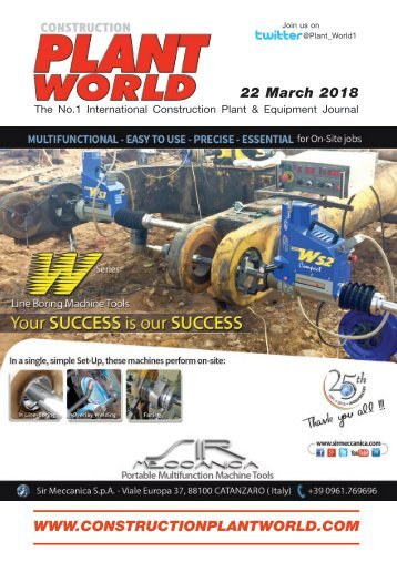 Construction Plant World 22nd March 2018