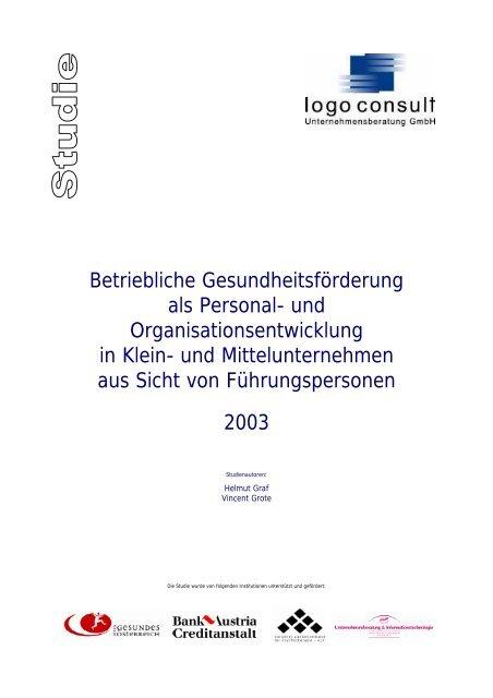 logo consult - BGF-Studie - 2. Version - 01-02-2003