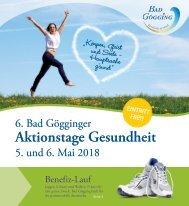 Magazin zu den 6. Bad Gögginger Aktionstagen Gesundheit 2018