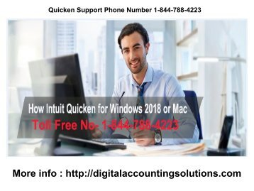 Quicken Support Phone Number 1-844-788-4223