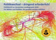 Politikbrief zur Hessischen Landtagswahl 2018 (Stand 21.03.2018)