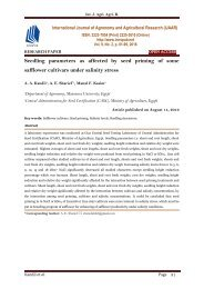 Seedling parameters as affected by seed priming of some safflower cultivars under salinity stress
