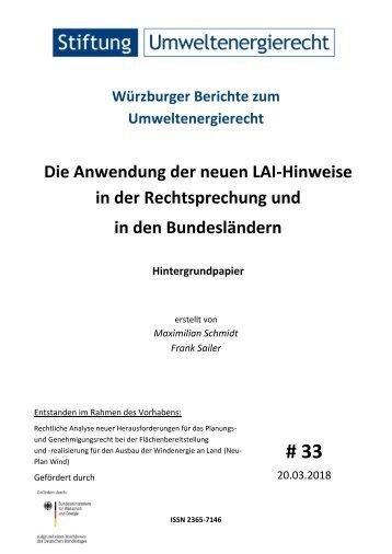 Die Anwendung der neuen LAI-Hinweise in der Rechtsprechung und in den Bundesländern
