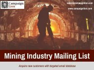 Mining Industry Mailing List | Mining Company Email List