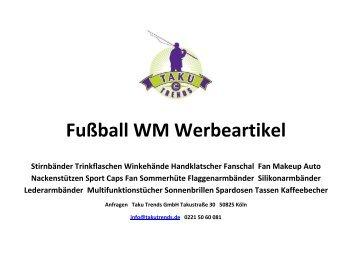 Fußball WM Werbeartikel mit Logo bedrucken