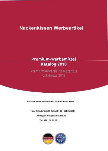 Nackenkissen Werbeartikel für Auto und Reise