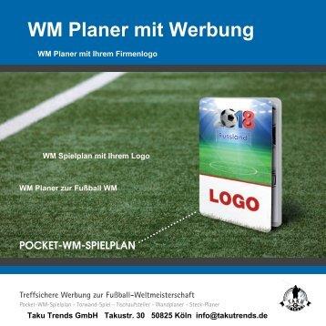 WM Planer mit Werbung und Logo Firmenlogo bedrucken