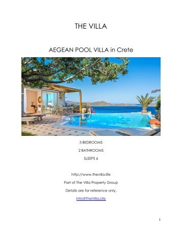 Aegean Pool Villa - Crete