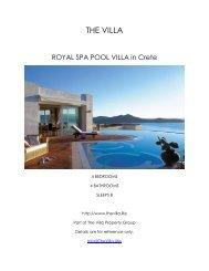 Royal Spa Pool Villa - Crete
