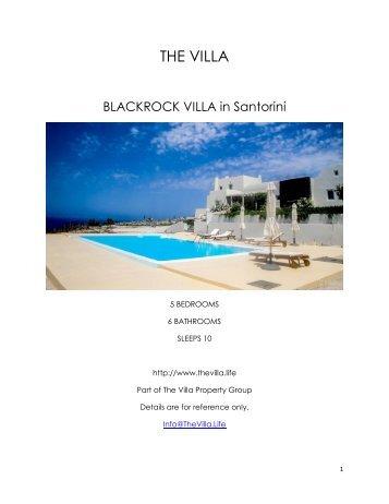 Blackrock Villa - Santorini