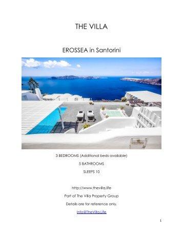 Erossea Villa - Santorini