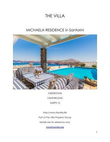 Michaela Residence - Santorini
