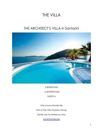 The Architect's Villa - Santorini
