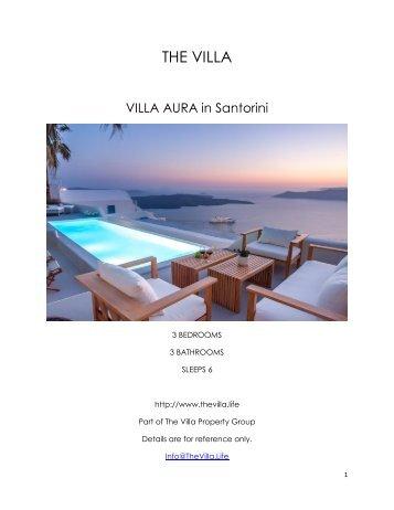 Villa Aura - Santorini