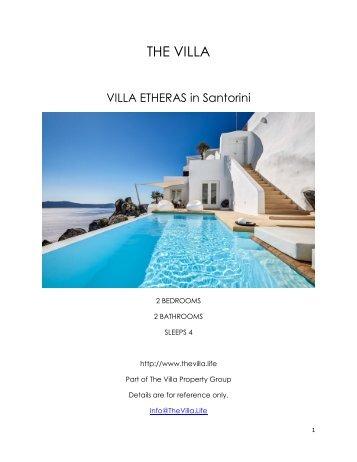 Villa Etheras - Santorini