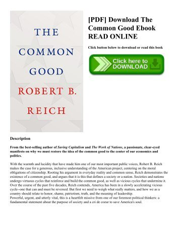 [PDF] Download The Common Good Ebook READ ONLINE