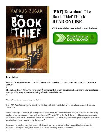 [PDF] Download The Book Thief Ebook READ ONLINE