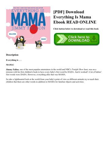 [PDF] Download Everything Is Mama Ebook READ ONLINE