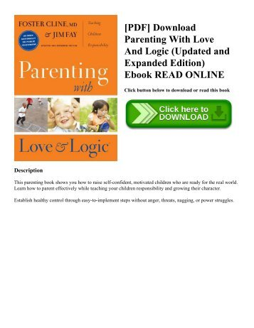 [PDF] Download Parenting With Love And Logic (Updated and Expanded Edition) Ebook READ ONLINE