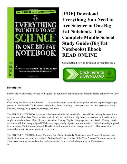 PDF] Download Everything You Need to Ace Science in One Big Fat