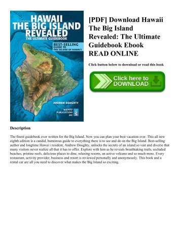 [PDF] Download Hawaii The Big Island Revealed: The Ultimate Guidebook Ebook READ ONLINE