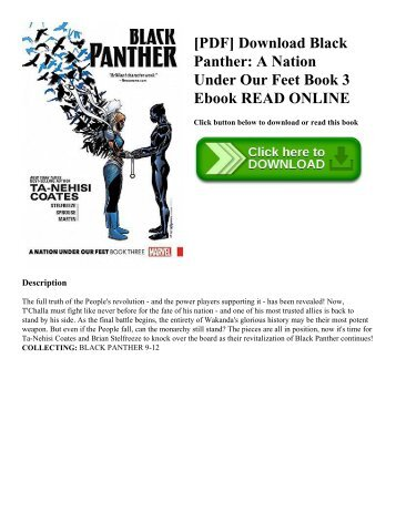 [PDF] Download Black Panther: A Nation Under Our Feet Book 3 Ebook READ ONLINE