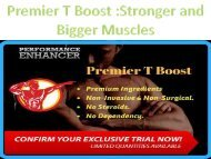 Premier T Boost Stronger and Bigger Muscles