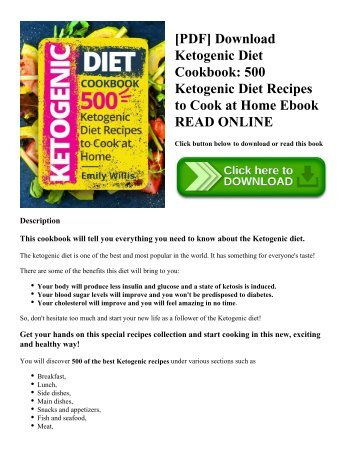 [PDF] Download Ketogenic Diet Cookbook: 500 Ketogenic Diet Recipes to Cook at Home Ebook READ ONLINE