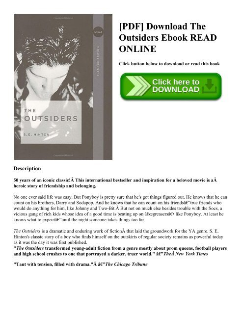 Download the outsider epub