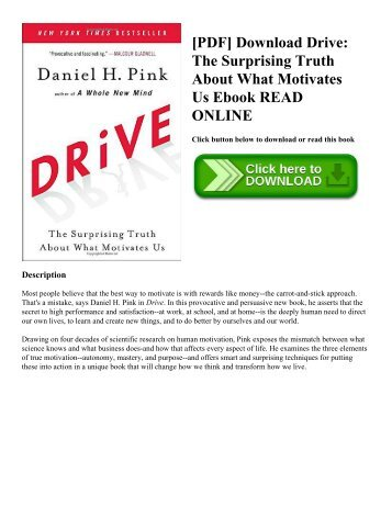 [PDF] Download Drive: The Surprising Truth About What Motivates Us Ebook READ ONLINE