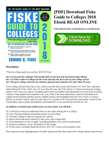 [PDF] Download Fiske Guide to Colleges 2018 Ebook READ ONLINE