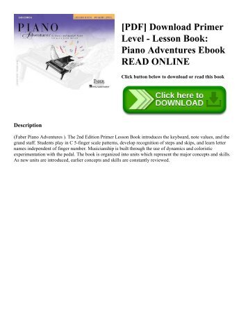 [PDF] Download Primer Level - Lesson Book: Piano Adventures Ebook READ ONLINE