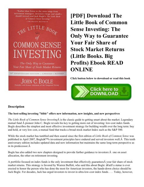 little pdf common the of investing book sense