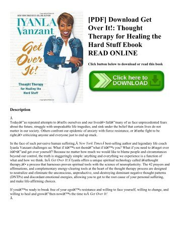 [PDF] Download Get Over It!: Thought Therapy for Healing the Hard Stuff Ebook READ ONLINE