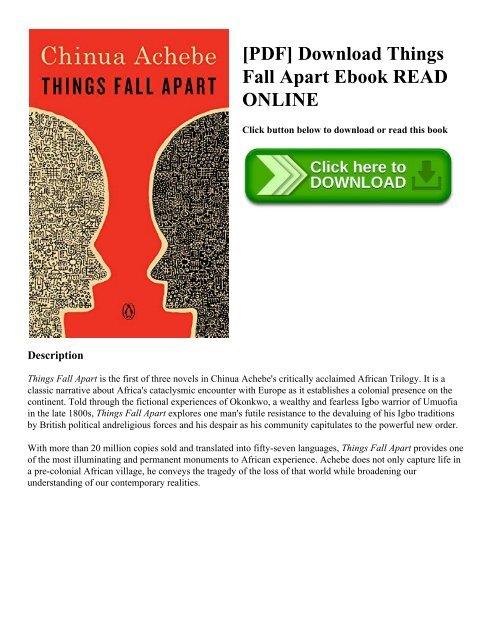 Pdf Download Things Fall Apart Ebook Read Online