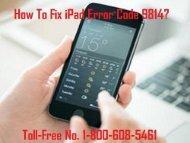 How to Fix iPad Error Code 9814? 1-800-608-5461 Toll-Free