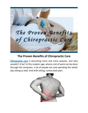 The Proven Benefits of Chiropractic Care