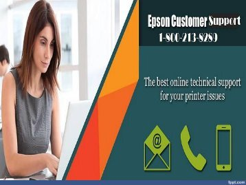 Call 1-800-213-8289 Epson Printer Customer Support Number for help