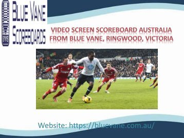 Video Screen Scoreboard from Blue Vane, Ringwood, Victoria