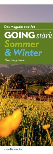 Gästemagazin Going Sommer + Winter
