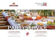 Fleischerei Kösters & Mescher - Partyservice-Broschüre