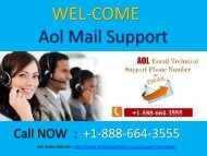 Call +1-888-664-3555 Aol mail Support number