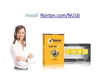 Install  Norton NU16