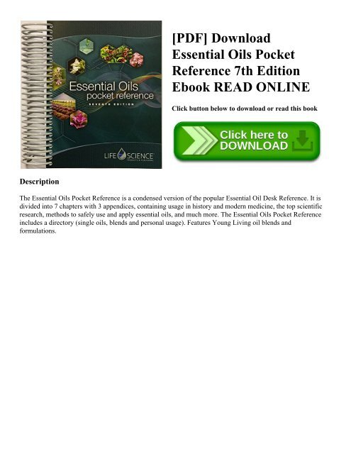 PDF] Download Essential Oils Pocket Reference 7th Edition