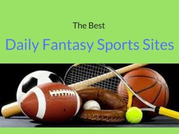 The Best Daily Fantasy Sports Sites