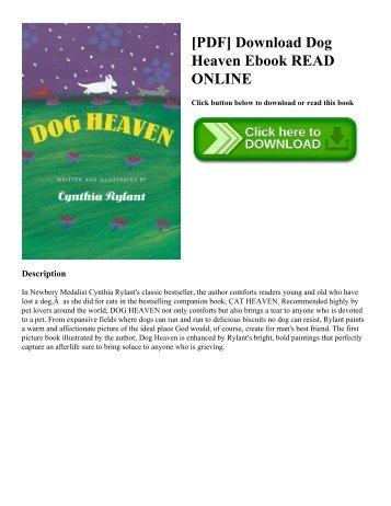[PDF] Download Dog Heaven Ebook READ ONLINE