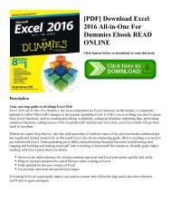 [PDF] Download Excel 2016 All-in-One For Dummies Ebook READ ONLINE