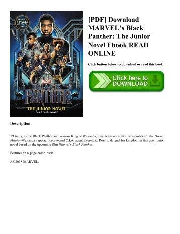 [PDF] Download MARVEL's Black Panther: The Junior Novel Ebook READ ONLINE
